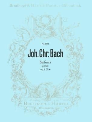 Sinfonia g-moll op. 6/6 Johann Christian Bach Partition laflutedepan