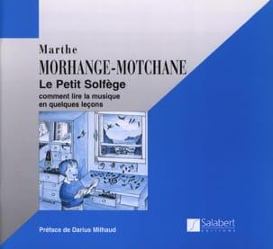 Le petit solfège Marthe Morhange-Motchane Partition laflutedepan