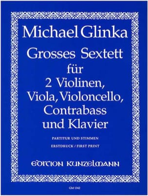 Grand Sextuor en Mib Maj. GLINKA Partition Sextuors - laflutedepan