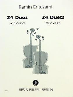 24 Duos Ramin Entezami Partition Violon - laflutedepan