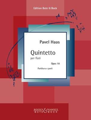 Quintetto per Fiati Op. 10 Pavel Haas Partition laflutedepan