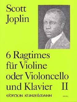 6 Ragtimes, Volume 2 JOPLIN Partition Violon - laflutedepan