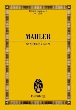 Symphonie n° 9 - Conducteur MAHLER Partition laflutedepan