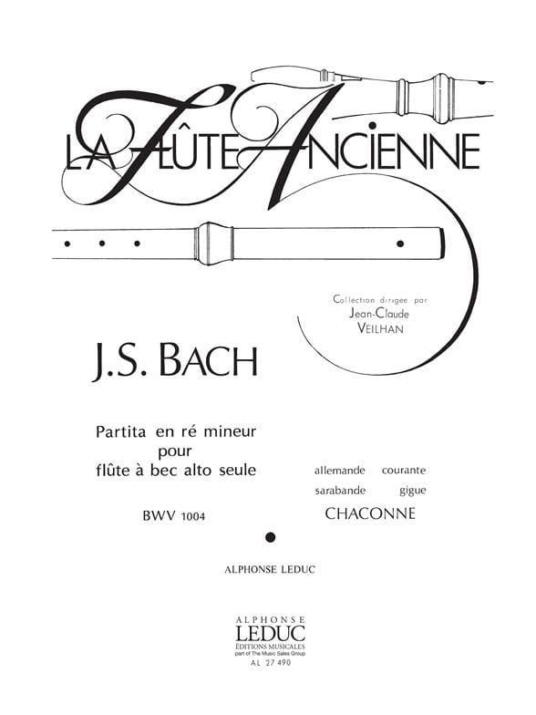 Partita en ré mineur BWV 1004 - flûte à bec - BACH - laflutedepan.com