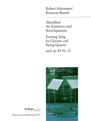 Abendlied - Klarinette Streichquartett SCHUMANN Partition laflutedepan