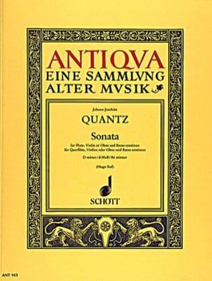 Sonata d-moll -Flöte Violine Oboe u. Bc QUANTZ Partition laflutedepan