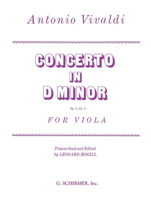 Concerto in D minor op. 3 n° 6 - Viola VIVALDI Partition laflutedepan