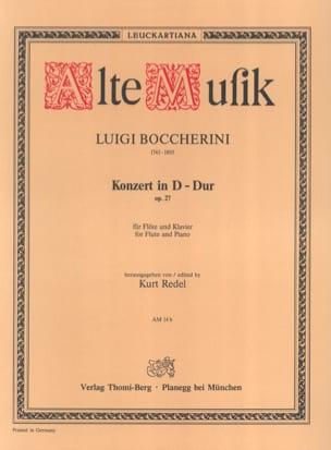 Konzert D-Dur op. 27 - Flöte Klavier BOCCHERINI Partition laflutedepan
