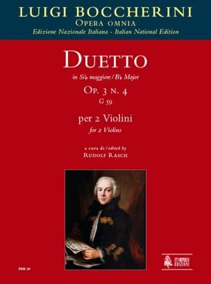 Duetto Op.3 N°4 En Sib Maj. G.59 BOCCHERINI Partition laflutedepan