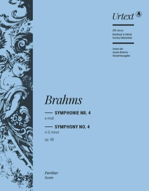 Symphonie n° 4, op. 98 - BRAHMS - Partition - laflutedepan.com
