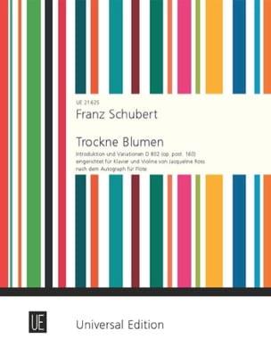 Trockne Blumen, D 802 - Violon et piano - SCHUBERT - laflutedepan.com