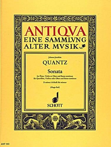 Sonata d-moll -Flöte Violine Oboe u. Bc - QUANTZ - laflutedepan.com