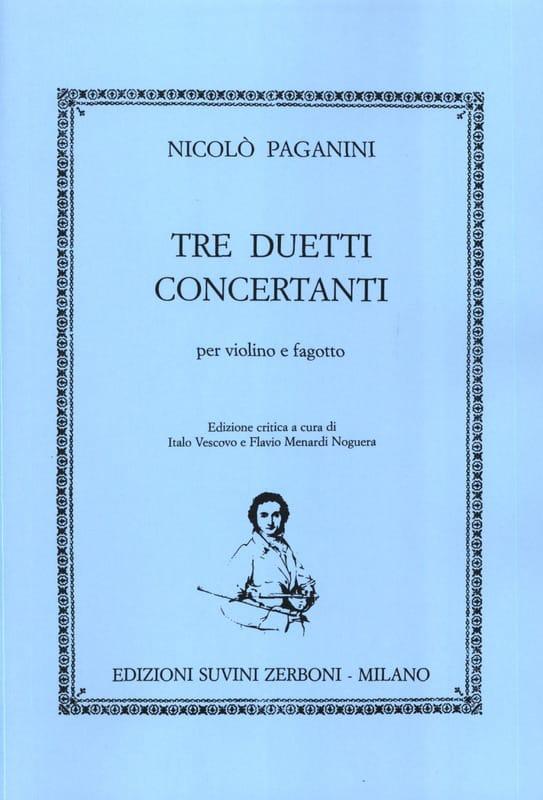 Tre Duetti Concertanti - Nicolo Paganini - laflutedepan.com