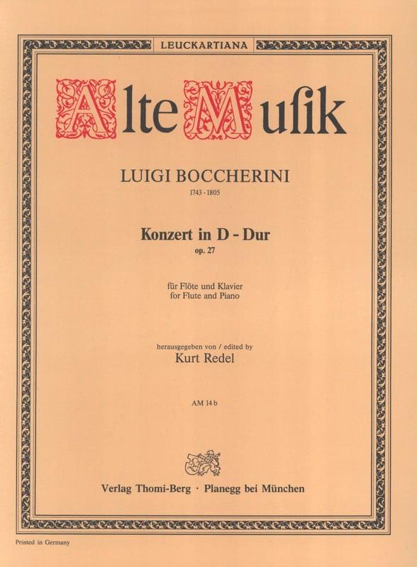 Konzert D-Dur op. 27 - Flöte Klavier - BOCCHERINI - laflutedepan.com