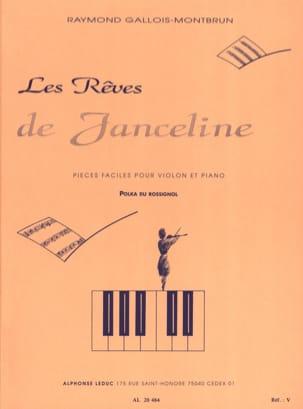 Polka du Rossignol Raymond GALLOIS-MONTBRUN Partition laflutedepan