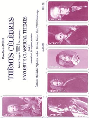 Thèmes célèbres - Volume 1 Rose-Marie Janzen Partition laflutedepan