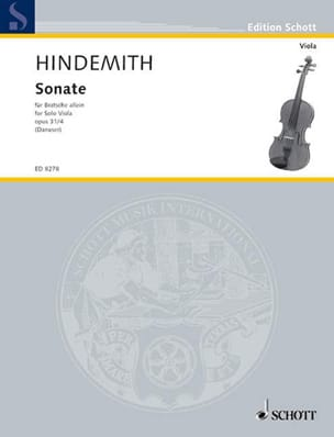 Sonate op. 31 n°4 HINDEMITH Partition Alto - laflutedepan