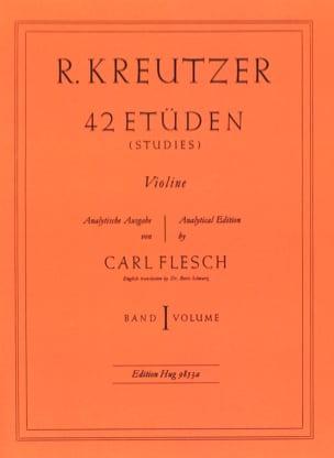 42 Etudes Volume 1 Rodolphe Kreutzer Partition Violon - laflutedepan