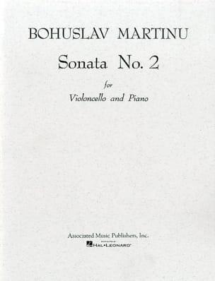 Sonata n° 2 - Violoncelle MARTINU Partition Violoncelle - laflutedepan