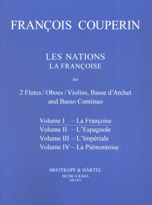 Les Nations - Volume 1 : la Françoise COUPERIN Partition laflutedepan