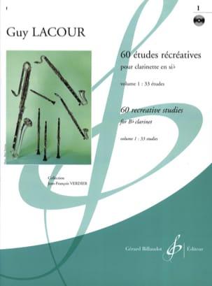 60 Etudes récréatives - Volume 1 Guy Lacour Partition laflutedepan
