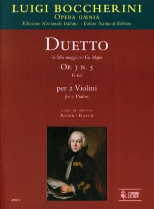 Duetto Op.3 N°5 En Mib Maj. G.60 BOCCHERINI Partition laflutedepan