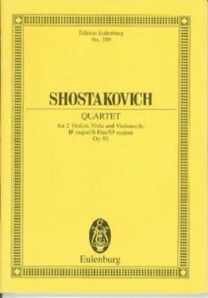 Streich-Quartett N° 5 - CHOSTAKOVITCH - Partition - laflutedepan.com