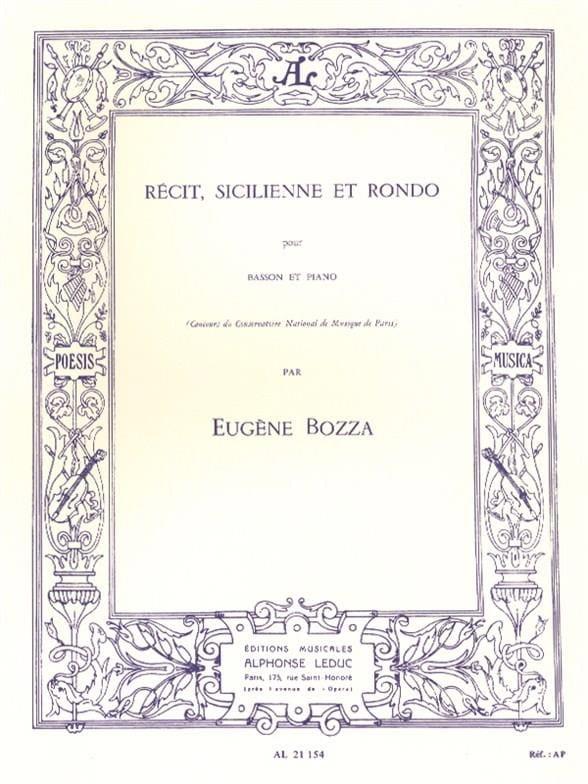 Récit, Sicilienne et Rondo - Eugène Bozza - laflutedepan.com