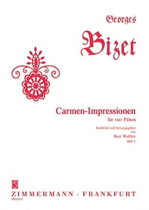 Carmen-Impressionen - Heft 1- 4 Flutes - BIZET - laflutedepan.com