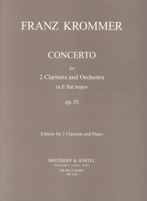 Concerto in Eb major op. 35 -2 clarinets piano KROMMER laflutedepan