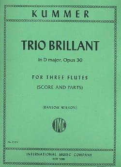 Trio Brillant in D major op. 30 - 3 Flutes Score - parts laflutedepan