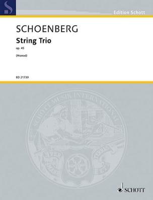 Trio à cordes, op. 45 SCHOENBERG Partition Trios - laflutedepan