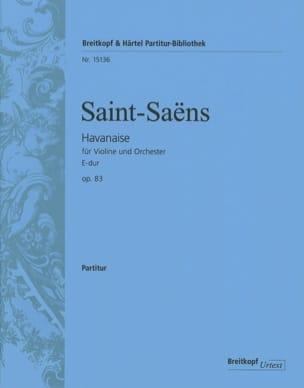 Havanaise, opus 83 - Conducteur SAINT-SAËNS Partition laflutedepan