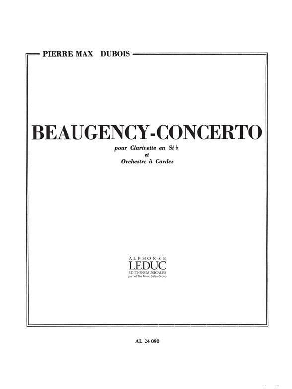 Beaugency Concerto - Pierre-Max Dubois - Partition - laflutedepan.com