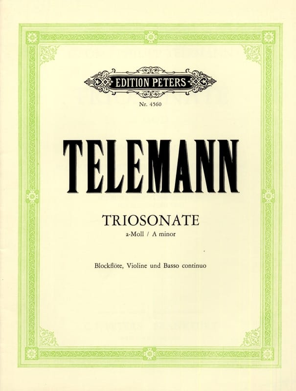 Triosonate a-moll TWV 42 : a4 - Blockflöte Violine Bc - laflutedepan.com