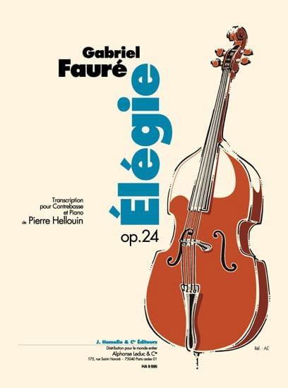 Elegie Op. 24 - Contrebasse - FAURÉ - Partition - laflutedepan.com