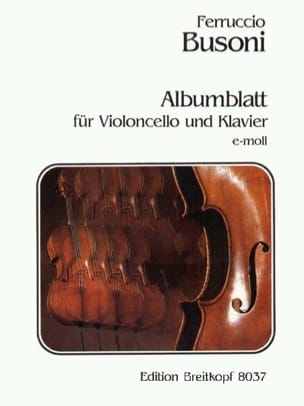 Albumblatt BUSONI Partition Violoncelle - laflutedepan