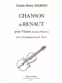 Chanson de Renaut Claude-Henry Joubert Partition Violon - laflutedepan