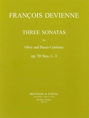 3 Sonatas op. 70 n° 1-3 - Oboe Bc DEVIENNE Partition laflutedepan