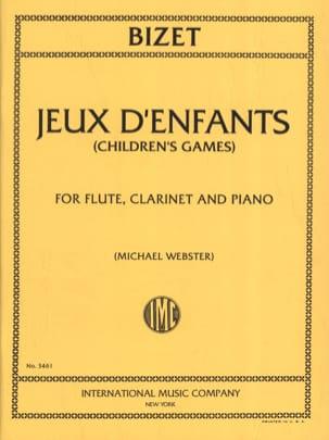Jeux d'enfants - Flute clarinet piano BIZET Partition laflutedepan