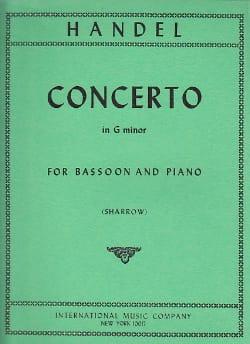Concerto in G minor -Bassoon piano HAENDEL Partition laflutedepan