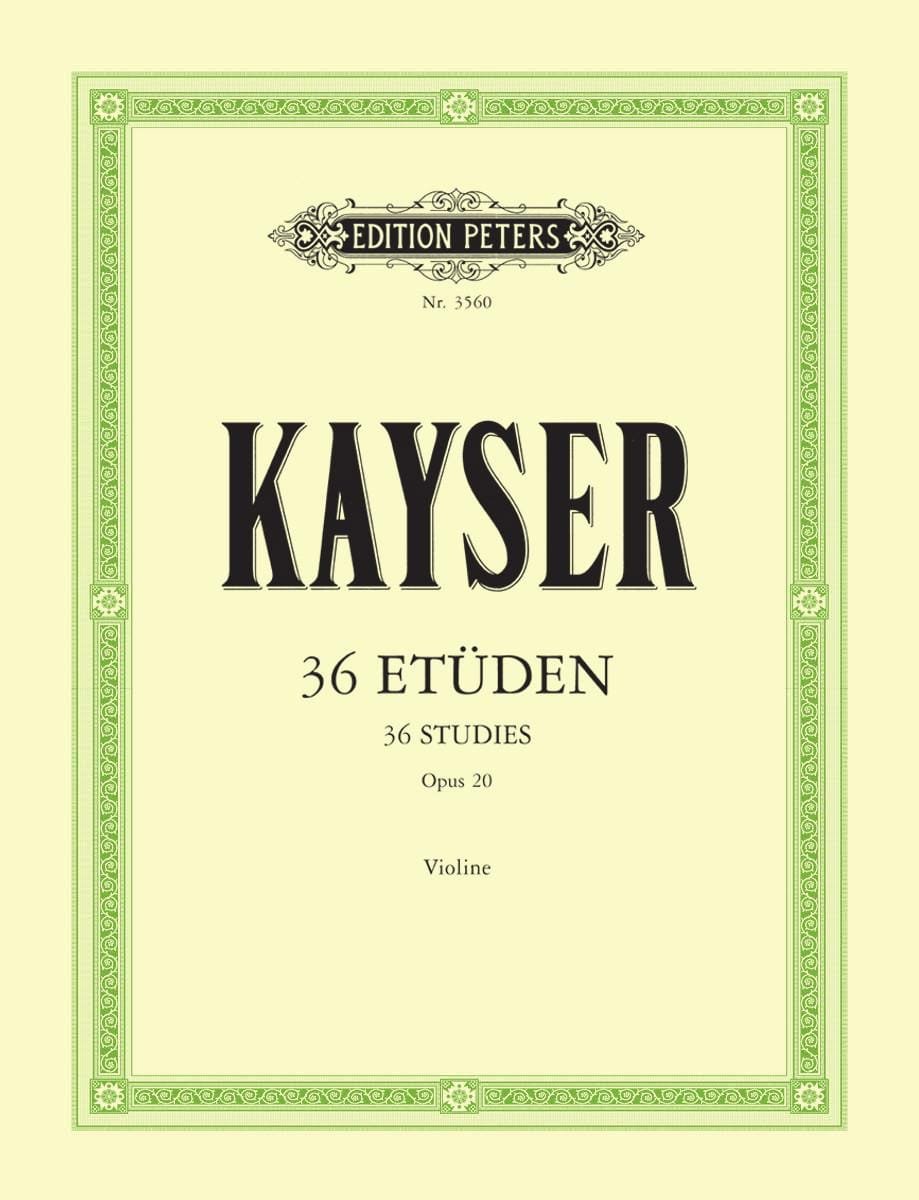 36 Etudes Op. 20 - Heinrich Ernst Kayser - laflutedepan.com