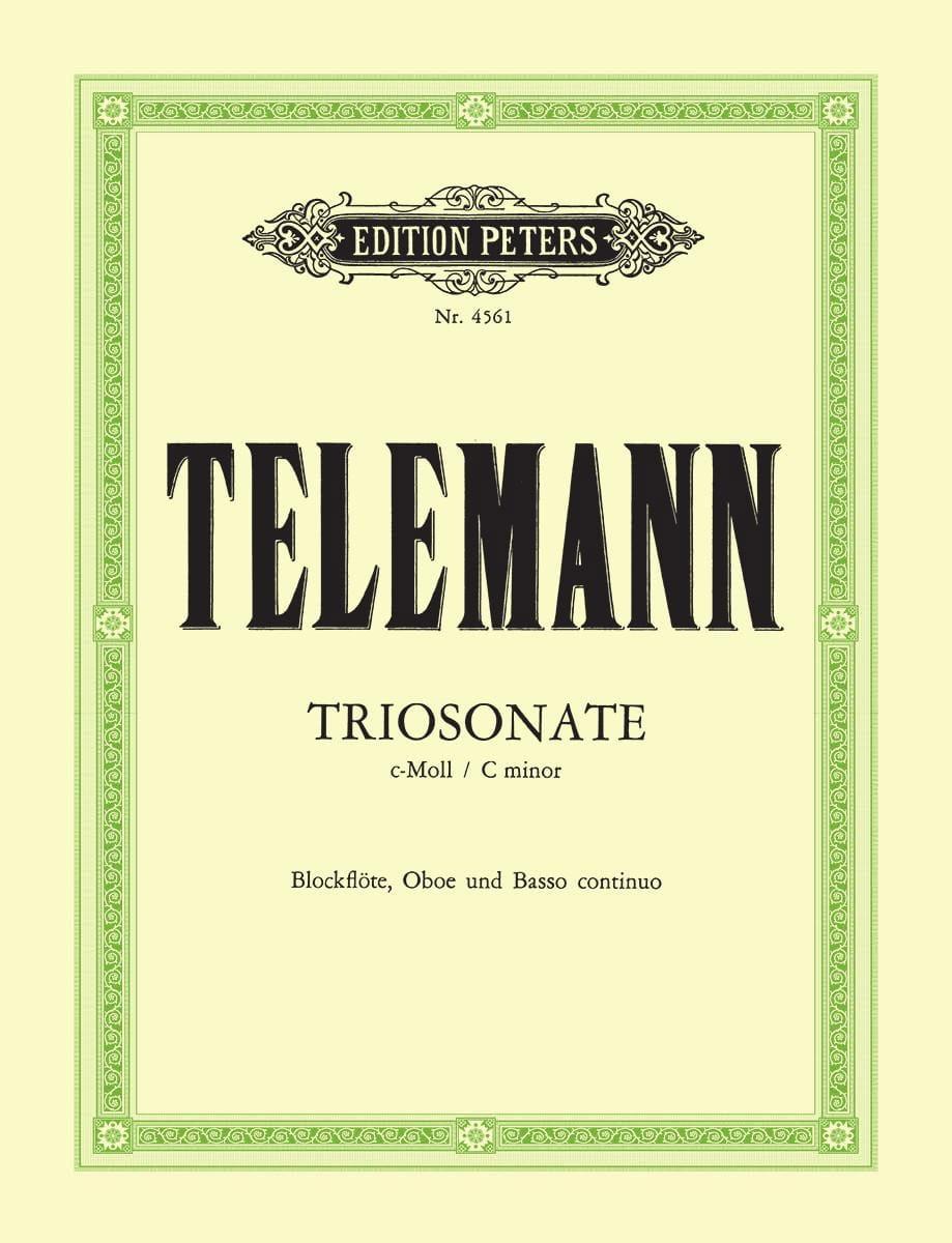 Triosonate c-moll TWV 42 : c2 -Blockflöte Oboe Bc - laflutedepan.com