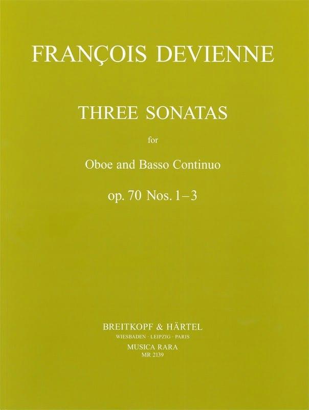 3 Sonatas op. 70 n° 1-3 - Oboe Bc - DEVIENNE - laflutedepan.com