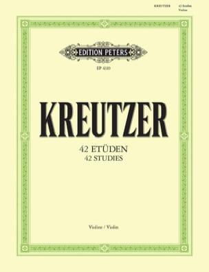42 Etudes Rodolphe Kreutzer Partition Violon - laflutedepan