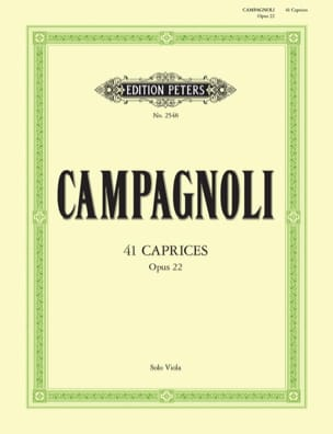Caprices Op. 22 Bartolomeo Campagnoli Partition Alto - laflutedepan