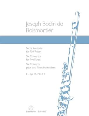 Concertos Op.15 N° 3 et 4 - Vol.2 - BOISMORTIER - laflutedepan.com