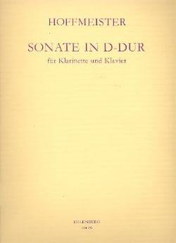 Sonate D-Dur - Klarinette Klavier HOFFMEISTER Partition laflutedepan