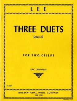 3 Duets op. 39 Sebastian Lee Partition Violoncelle - laflutedepan