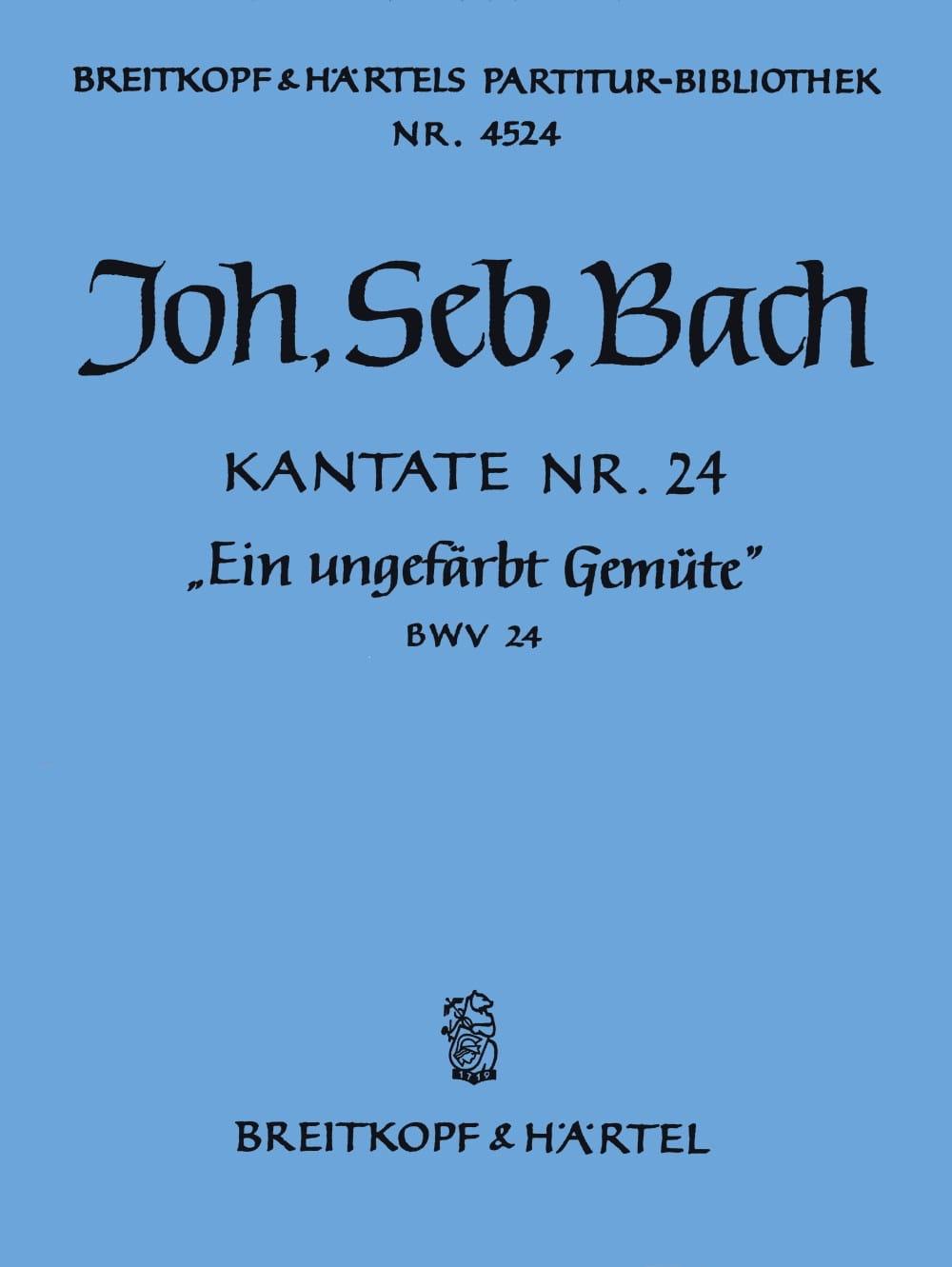 Kantate 24 Ein Ungefärbt - BACH - Partition - laflutedepan.com
